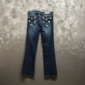 "Denim Couture Jeans - Denim Couture Size 36"" Jeweled Glam Pocket Flare"